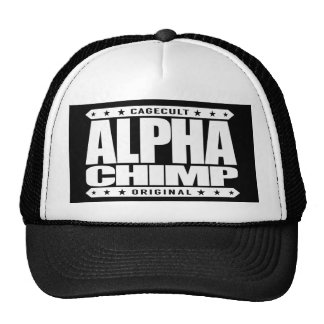 ALPHA CHIMP - Proud of My 98% Primate DNA, White Trucker Hat