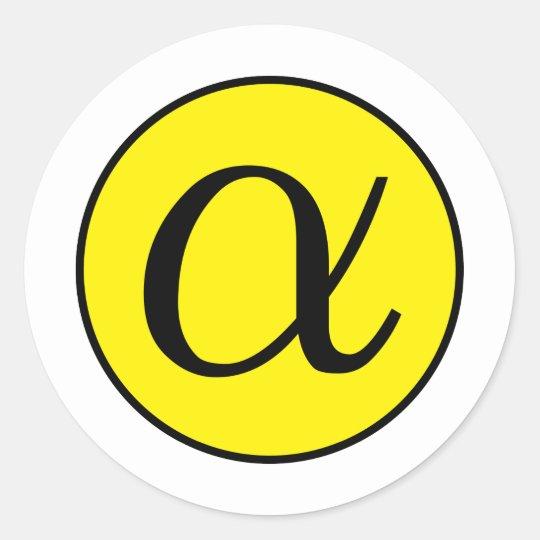 Alpha Classic Round Sticker
