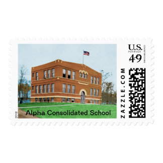 Alpha Consolidated School Commemorative Stamp