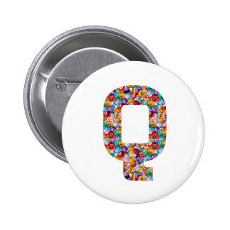 Alpha Couture GIFTS fun QQQ HHH Q H QQ HH Fashion 2 Inch Round Button