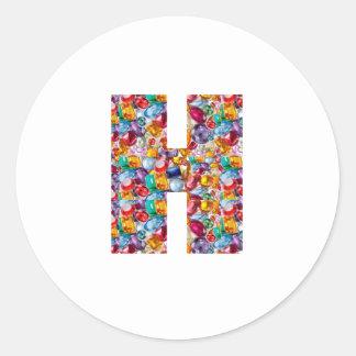Alpha Couture GIFTS fun QQQ HHH Q H QQ HH Fashion Classic Round Sticker