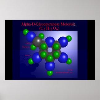 Alpha-D-Glucopyranose Molecule (print)