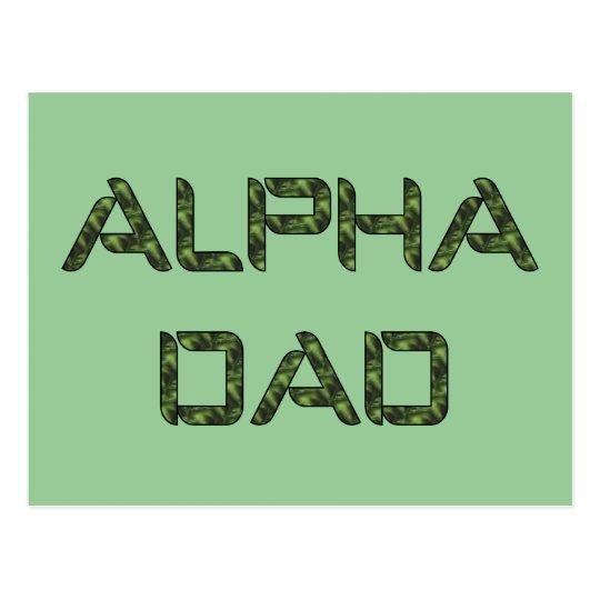 Alpha Dad Postcard