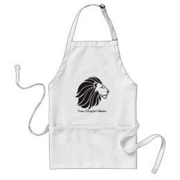 Alpha Delta Pi Black Lion Adult Apron