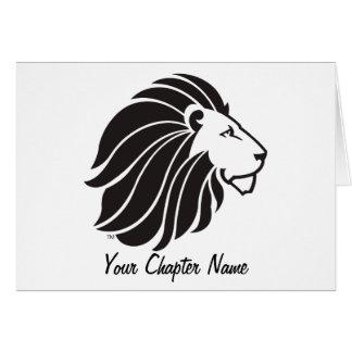 Alpha Delta Pi Black Lion Card