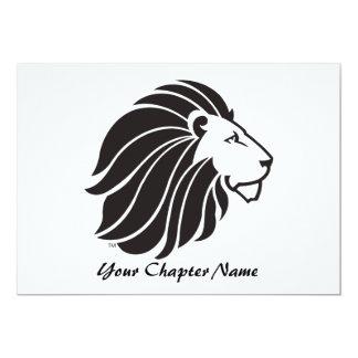 Alpha Delta Pi Black Lion 5x7 Paper Invitation Card