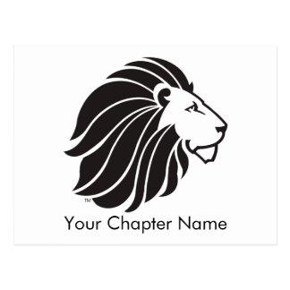 Alpha Delta Pi Black Lion Postcard