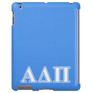 Alpha Delta Pi Dark Blue and White Letters