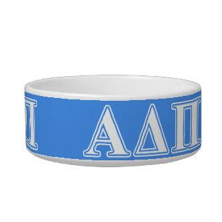 Alpha Delta Pi Dark Blue and White Letters Bowl