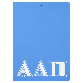 Alpha Delta Pi Dark Blue and White Letters Clipboards
