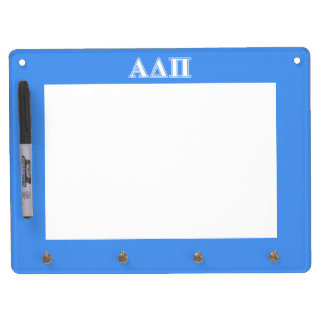 Alpha Delta Pi Dark Blue and White Letters Dry Erase Whiteboards