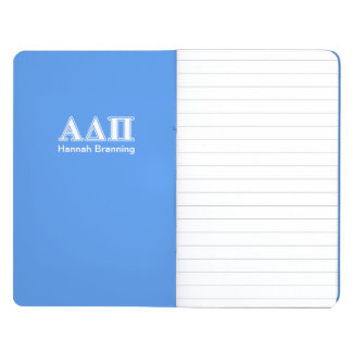 Alpha Delta Pi Dark Blue and White Letters Journals