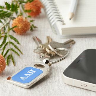 Alpha Delta Pi Dark Blue and White Letters Keychain