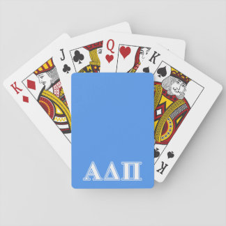 Alpha Delta Pi Dark Blue and White Letters Poker Cards