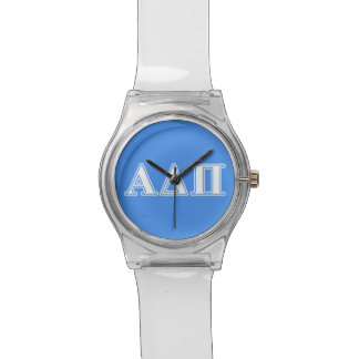 Alpha Delta Pi Dark Blue and White Letters Wrist Watch