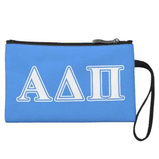 Alpha Delta Pi Dark Blue and White Letters Wristlet Wallet