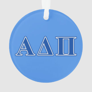 Alpha Delta Pi Dark Blue Letters