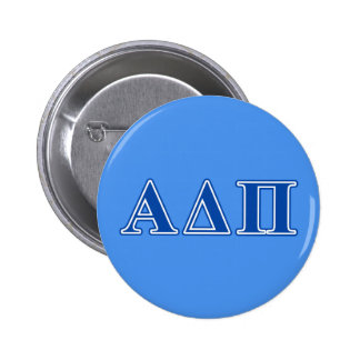 Alpha Delta Pi Dark Blue Letters Button