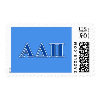 Alpha Delta Pi Dark Blue Letters Postage