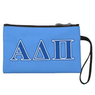 Alpha Delta Pi Dark Blue Letters Wristlet Wallet