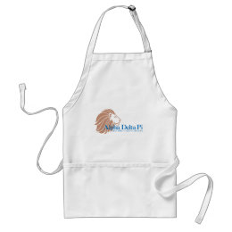 Alpha Delta Pi Gold Lion and Blue Name Adult Apron