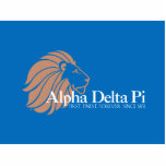 Alpha Delta Pi Gold Lion with Blue Background Photo Cut Outs