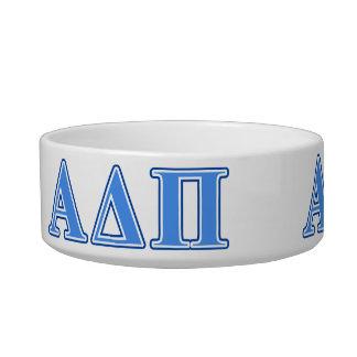 Alpha Delta Pi Light Blue and Dark Blue Letters Bowl