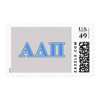 Alpha Delta Pi Light Blue and Dark Blue Letters Postage