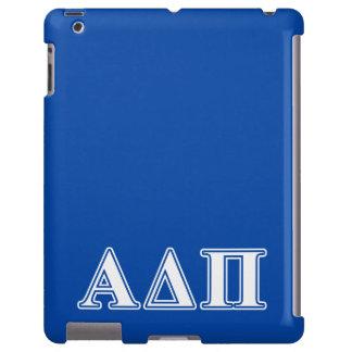 Alpha Delta Pi Light Blue and White Letters