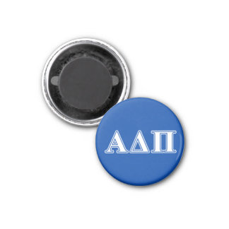 Alpha Delta Pi Light Blue and White Letters 1 Inch Round Magnet