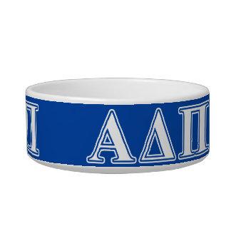 Alpha Delta Pi Light Blue and White Letters Bowl
