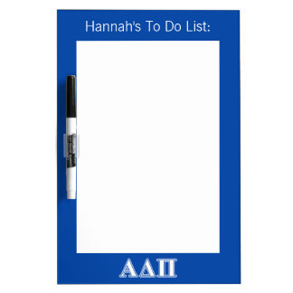 Alpha Delta Pi Light Blue and White Letters Dry-Erase Whiteboards