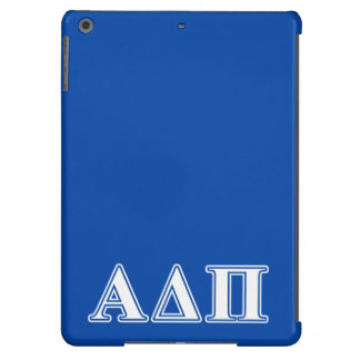 Alpha Delta Pi Light Blue and White Letters iPad Air Cover
