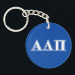 "Alpha Delta Pi Light Blue and White Letters Keychain<br><div class=""desc"">Check out these official Alpha Delta Pi designs! Personalize your own Greek merchandise on Zazzle.com! Click the Customize button to insert your own name, class year, or club to make a unique product. Try adding text using various fonts &amp; view a preview of your design! Zazzle&#39;s easy to customize products...</div>"