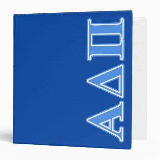 Alpha Delta Pi Light Blue Letters 3 Ring Binder