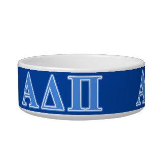 Alpha Delta Pi Light Blue Letters Bowl