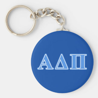 Alpha Delta Pi Light Blue Letters Keychain