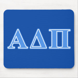 Alpha Delta Pi Light Blue Letters Mouse Pad