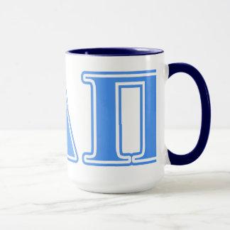 Alpha Delta Pi Light Blue Letters Mug