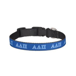 Alpha Delta Pi Light Blue Letters Pet Collar