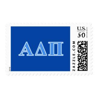 Alpha Delta Pi Light Blue Letters Postage
