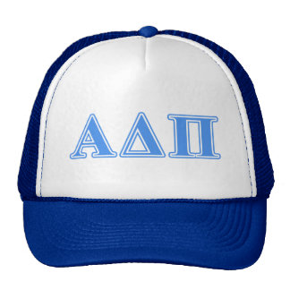 Alpha Delta Pi Light Blue Letters Trucker Hat