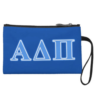 Alpha Delta Pi Light Blue Letters Wristlet