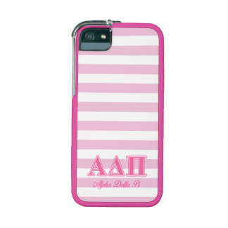 Alpha Delta Pi Pink Letters iPhone 5/5S Covers