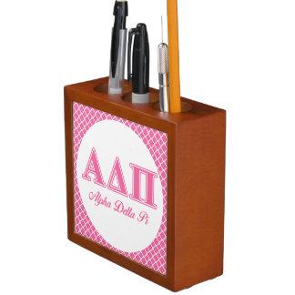 Alpha Delta Pi Pink Letters Desk Organizers