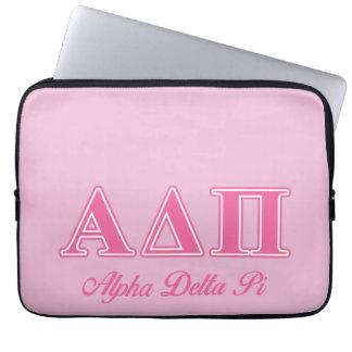 Alpha Delta Pi Pink Letters Laptop Computer Sleeve