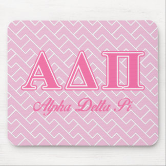 Alpha Delta Pi Pink Letters Mouse Pad