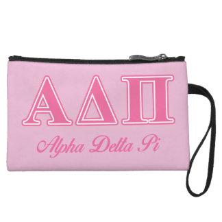 Alpha Delta Pi Pink Letters Wristlet Wallet