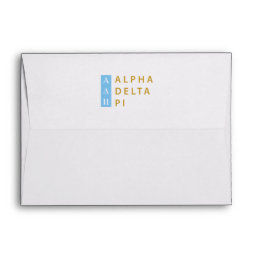 Alpha Delta Pi | Stacked Logo Envelope