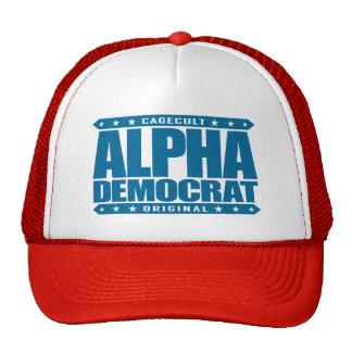 ALPHA DEMOCRAT - I Am a Donkey Punch Expert, Blue Trucker Hat